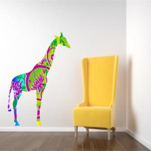 Kids Decor Giraffe Wall Decal in Br..