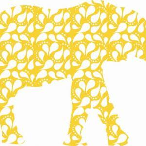Nursery Decor Paisley Elephant Fabr..