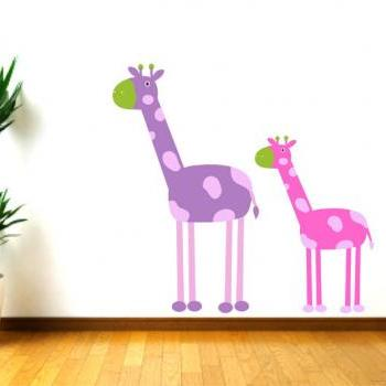 Kids Decor Giraffe Wall Decal for Nursery